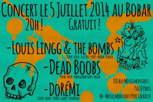 Concerts le 5 juillet 2014 au Bobar